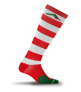 Red white green compression socks